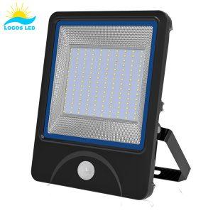 Luna 150W LED Flood Light front with motion sensor