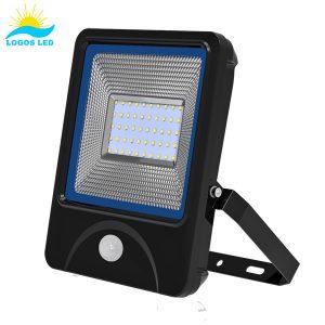 Luna 50W LED Flood Light front with motion sensor
