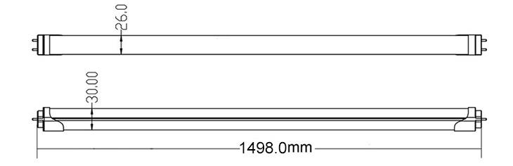 led tube light dimmension-1500