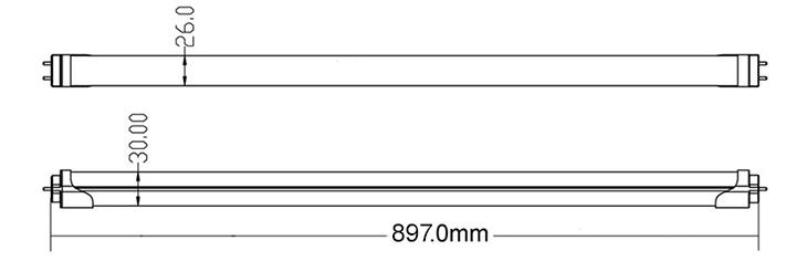 led tube light dimmension-900