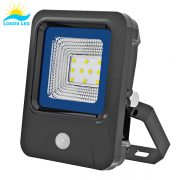 10W LED Flood Light front with motion sensor