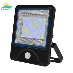 Luna 100W LED Flood Light front with motion sensor