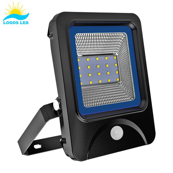 Luna 20W LED Flood Light front with motion sensor